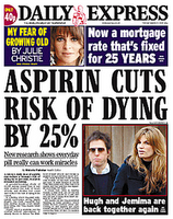 Aspirin Cuts Risk of Dying by 25%