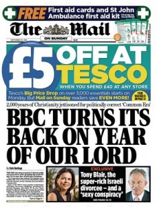 BBC turns its back on year of our Lord